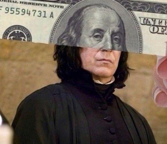 Severus Snape Hundred Dollar Bill Optical Illusion - http://www.moillusions.com/severus-snape-hundred-dollar-bill-optical-illusion/?utm_source=Pinterest&utm_medium=Social