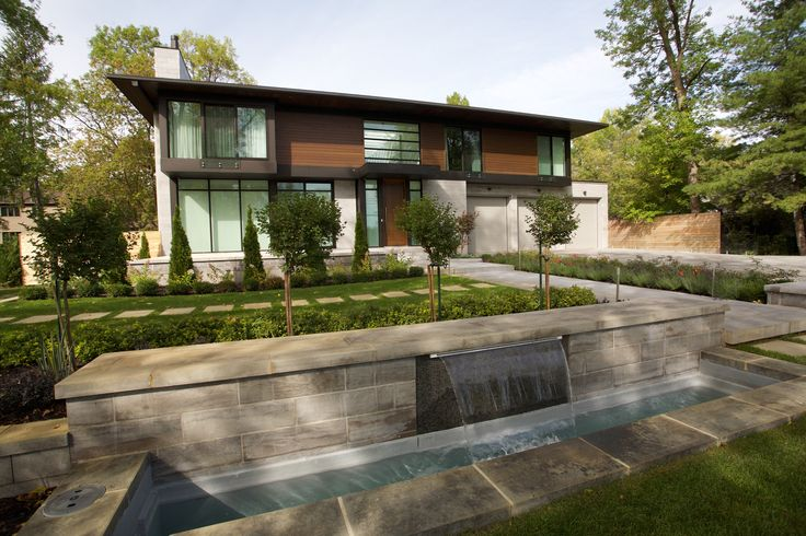 #landscape #landscapedesign #waterfeature #walkway #waterfall