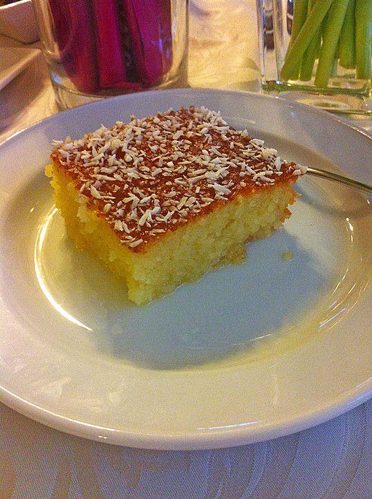 Bienenstich kuchen auf turkisch