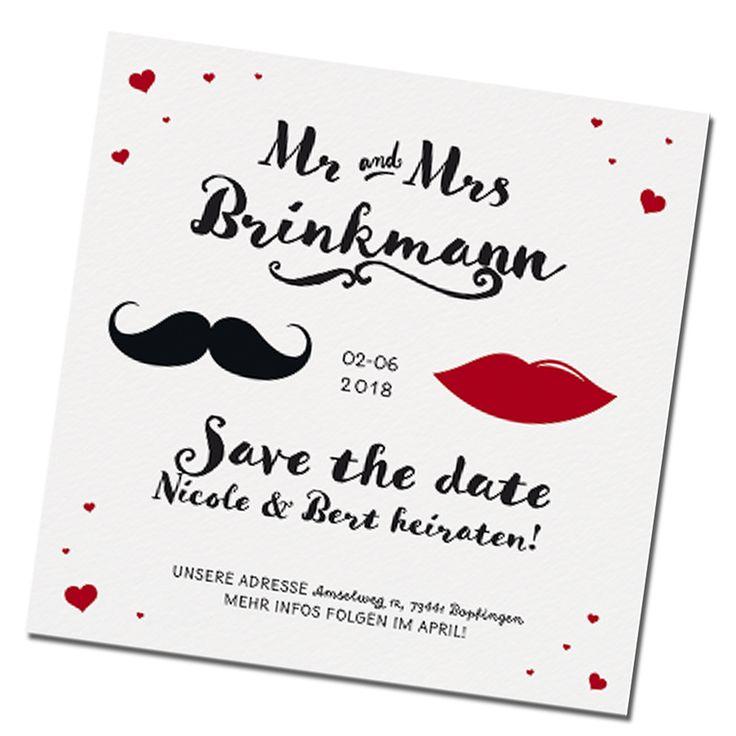 """Save the Date Karten """"Mr. & Mrs."""" online bestellen"""