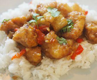 Innbakt Søt Hawaii kylling - utrolig godt <3