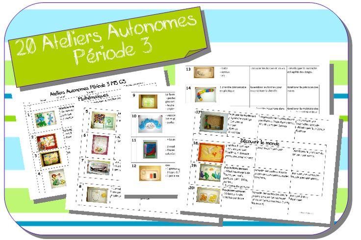 Ateliers Autonomes Période 3 MS-GS de Zaubette