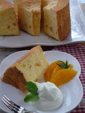 「太白ごま油で爽やかオレンジシフォンケーキ」シフォン | お菓子・パンのレシピや作り方【corecle*コレクル】