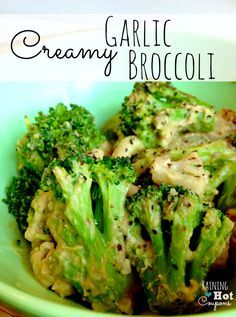 Creamy Garlic Broccoli (Only 2 Ingredients!)
