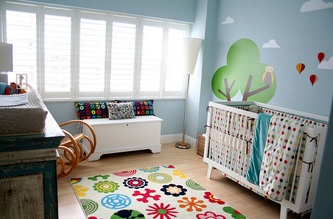Wander through our colorful baby boys room. Get more decorating ideas at http://www.CreativeBabyBedding.com