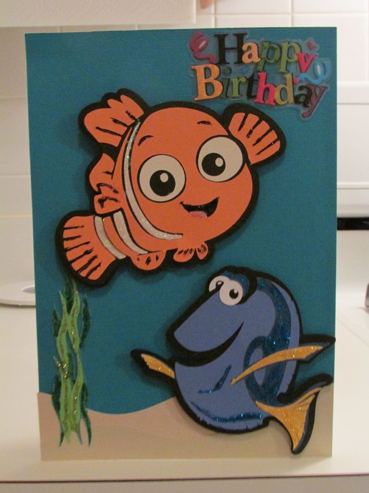 17 Best images about Doris birthday – Finding Nemo Birthday Cards