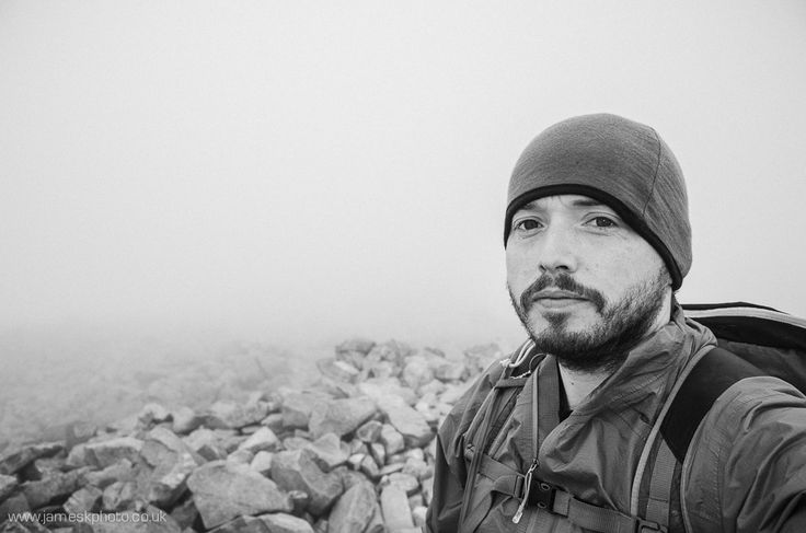 At the summit of Scafell Pike, Lake District. Hiking. Landscape photography. www.jameskphoto.co.uk