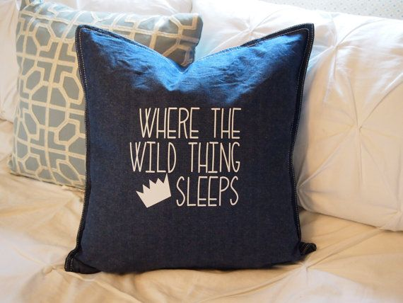 custom kid pillow cover 20x20 in kids custom sham boy bedding where the wild things are bedroom boy room decor