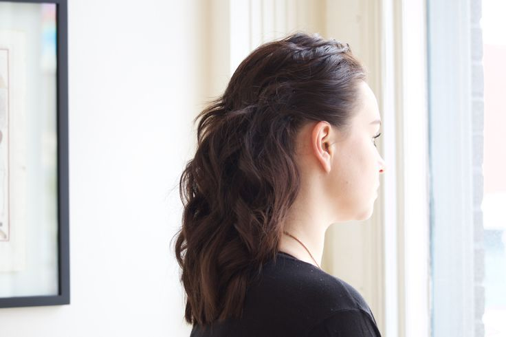 The newer and more modern way to approach putting up hair is through hair sewing. Hair by Joseph Crowley & Mitch Kadlec.