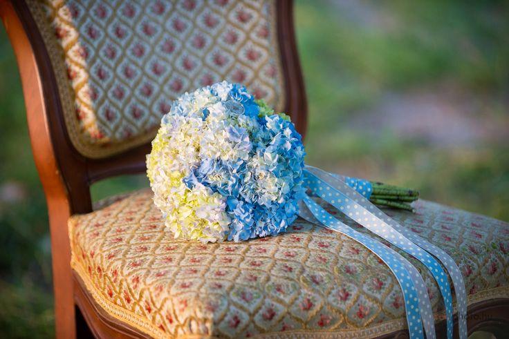 Kék hortenzia csokor