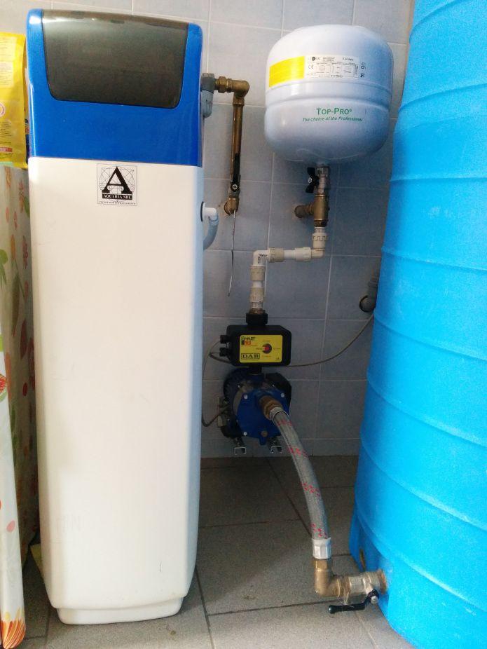 Addolcitore d'acqua e autoclave