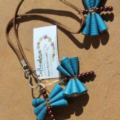 Pendant-style Paper Bead Necklaces