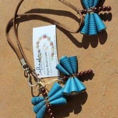 Pendant-style Paper Bead Necklaces