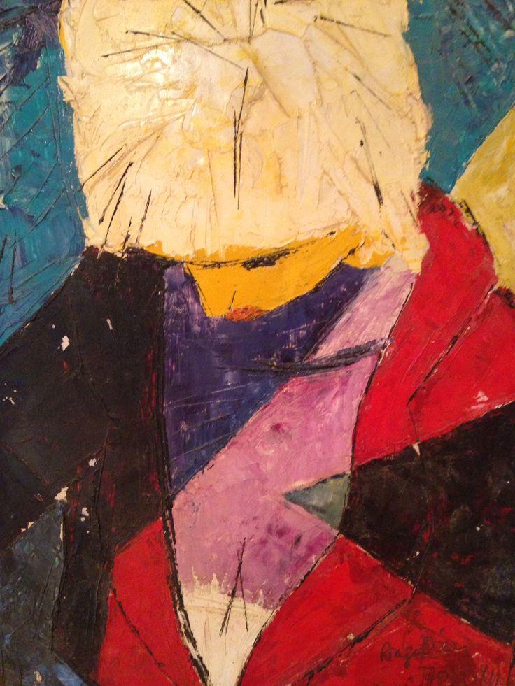 Tap Werkman, Angelina lezend, 1956, olieverf op paneel, coll. Museum Dr8888 langdurige bruikleen part. coll.