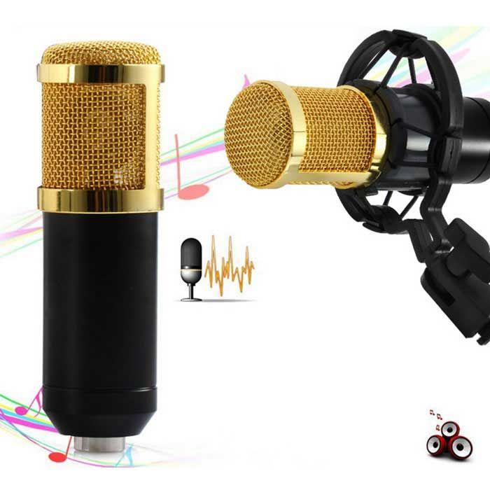 Microfone profissional de condensador JEDX BM-800 para gravação
