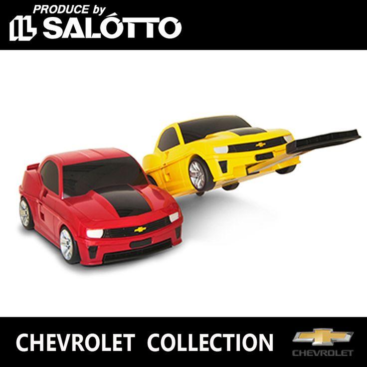 ゼネラルモーターズ GM 純正パーツ キーホルダー ミニカー など。【 シボレー 純正 マラソンクーポン対象】 カマロ キッズ キャリー ケース50.8cm 2.5kg 取っ手 収縮式 約31cm イエロー レッド Camaro CHEVROLET
