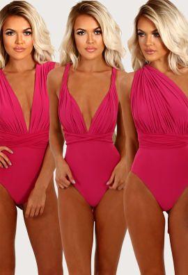 Malibu Beach Pink Multiway Swimsuit