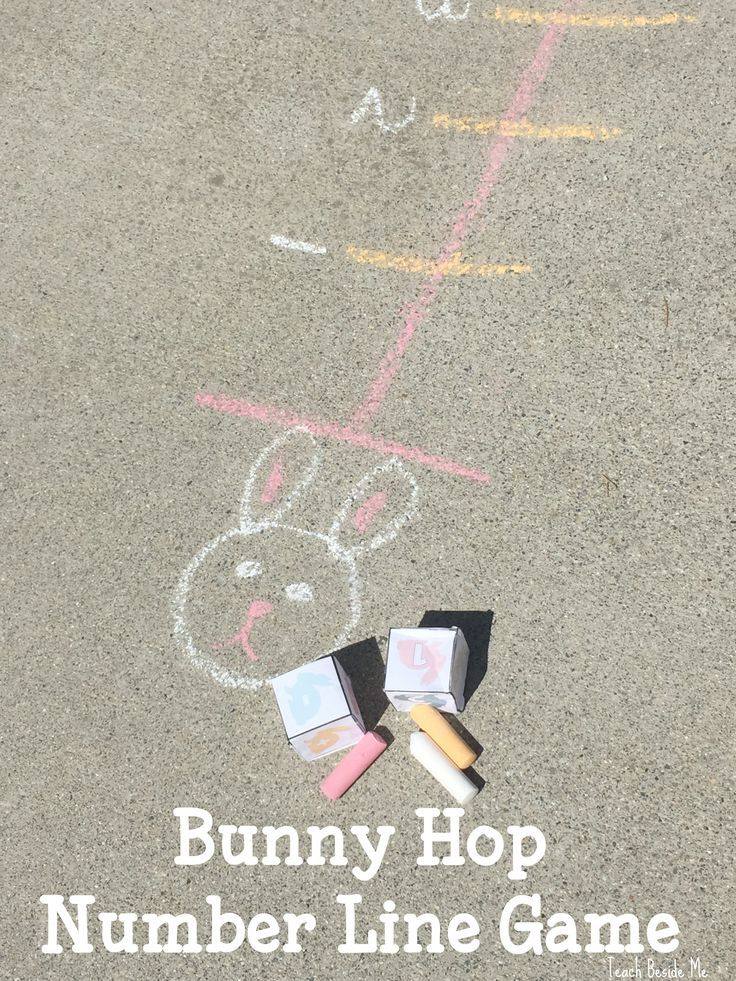Learn counting with this engaging bunny hop number line game. Roll to see how far you will move and be the first bunny to get to the end of the line!