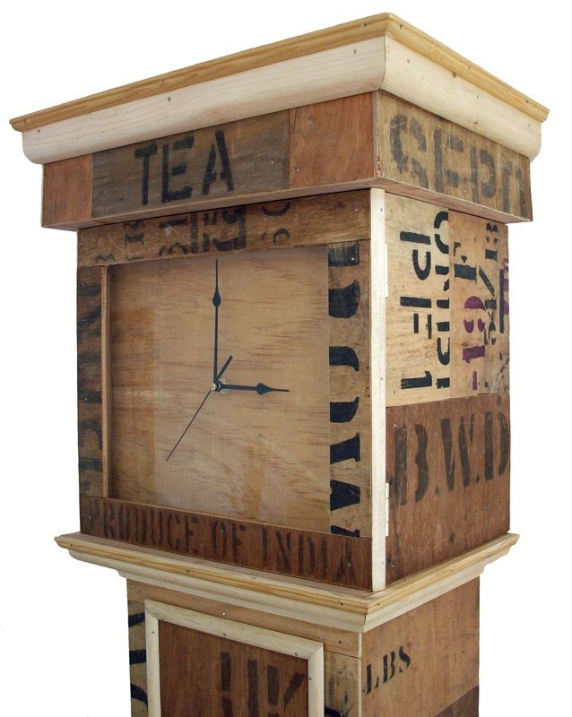 Handmade Tea Crate Clock by Reclaimed Time