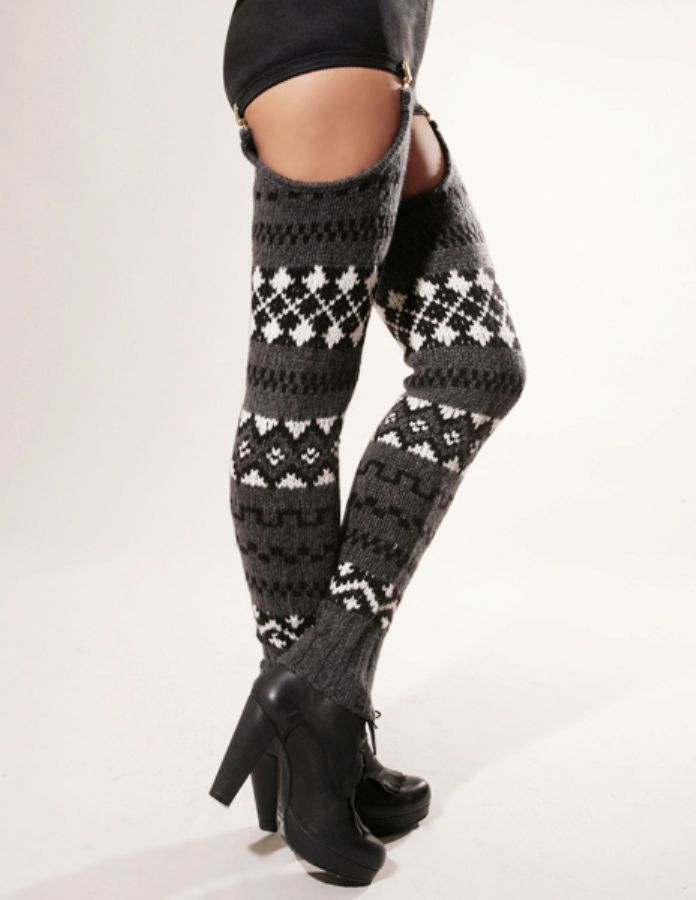 Spring and Clifton thigh high leg warmers 1