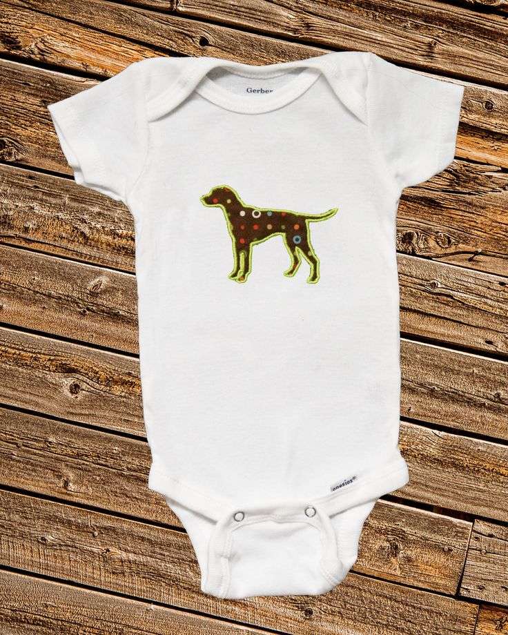 Lab applique Onesie, embroidered onesie, embroidered bodysuit, baby clothing, baby embroidered onesie, baby embroidered bodysuit, dog oneise by SewCami on Etsy https://www.etsy.com/listing/520502006/lab-applique-onesie-embroidered-onesie