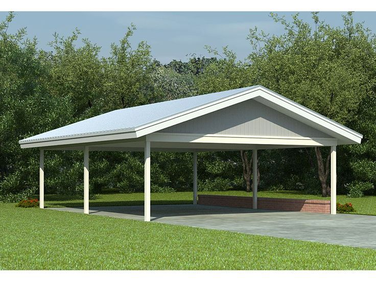 Pin by john magers on garage pinterest carport plans for Carport garage designs