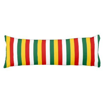 Suriname flag stripes lines pattern body pillow - individual customized unique ideas designs custom gift ideas