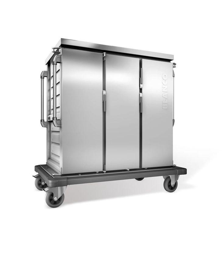 GTARDO.DE:  Tablettwagen für 24 GN-Tabletts, einwandig, 3 Schränke mit Flügeltüren, BxTxH 1554x783x1406 mm 3 081,00 €