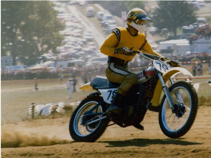 1974- Mike Hartwig on the gas of his Yamaha OW Works Bike ...