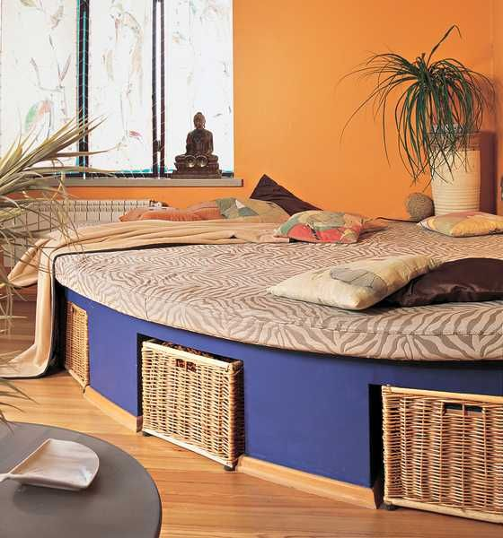 floor bed with storage