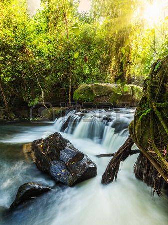 Tropical Waterfall Phnom Kulen  Cambodia   Phnom Kulen National Park