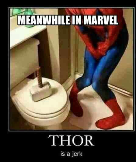 ~Thor~ ~Spider-Man~ ~Mjolnir~ ~Toilet~