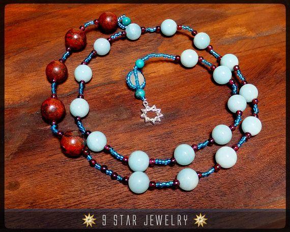 """Baha'i Prayer Beads  """"The Wisdom""""  (Alláh-u-Abhá)  by 9StarJewelry #bahai #9starjewelry #prayerbeads #etsy"""