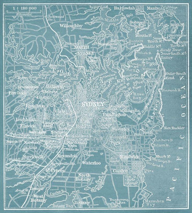 Sydney vintage map - hardtofind.