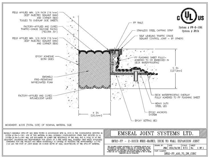 Best expansion movement seismic joints mechanical
