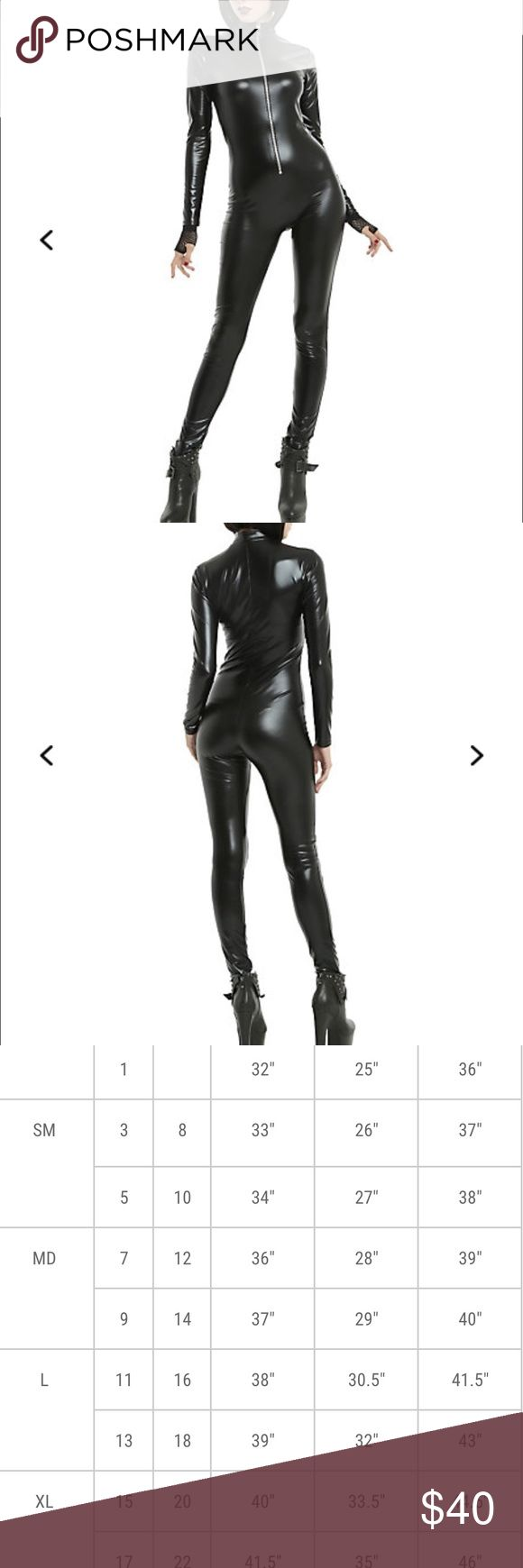 Black full bodysuit catsuit Hot topic! New with tag, size medium. I'm just a little too tall for it at 5'11. Otherwise it'd be amazing. See size chart for measurements.🌟Price Is FIRM🌟 Hot Topic Other