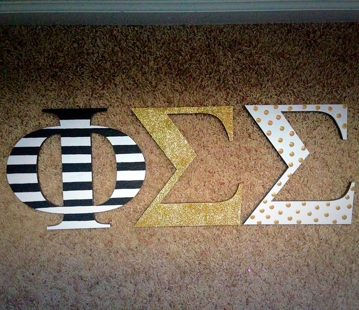 Kate Spade themed wooden sorority letters