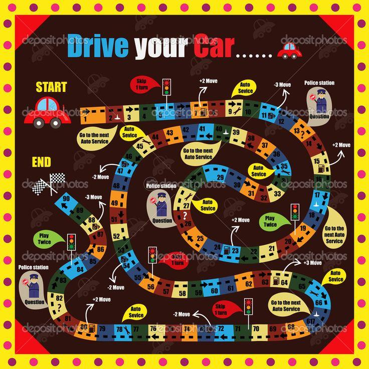 Gra planszowa dla dzieci — Ilustracja stockowa #43803807