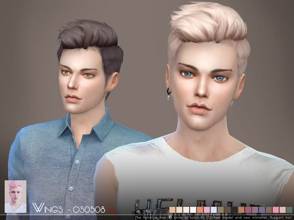 Hair OS0508 M by Wings Sims at TSR • Sims 4 Updates