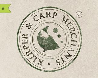 Textured round stamp logo