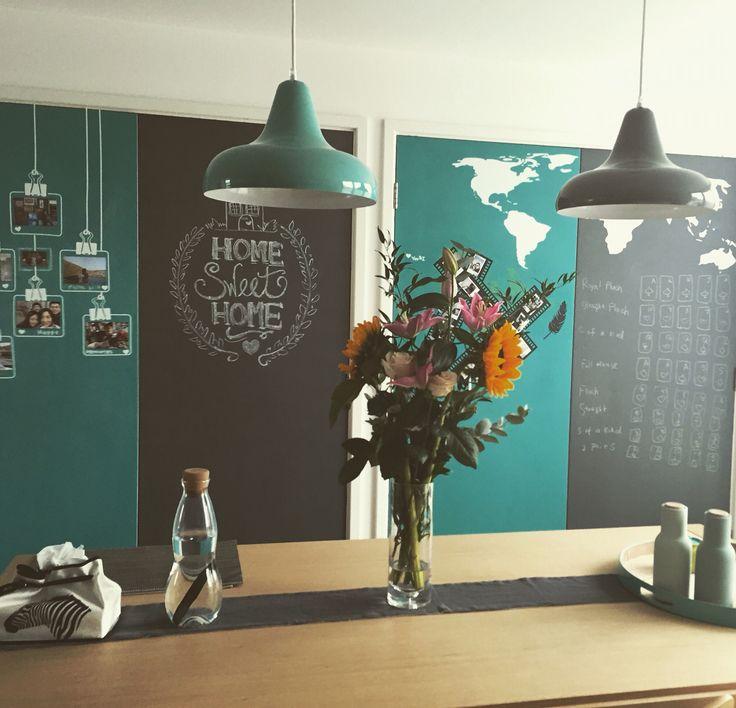 Chalkboard paint - Pebeo turquoise and slate grey