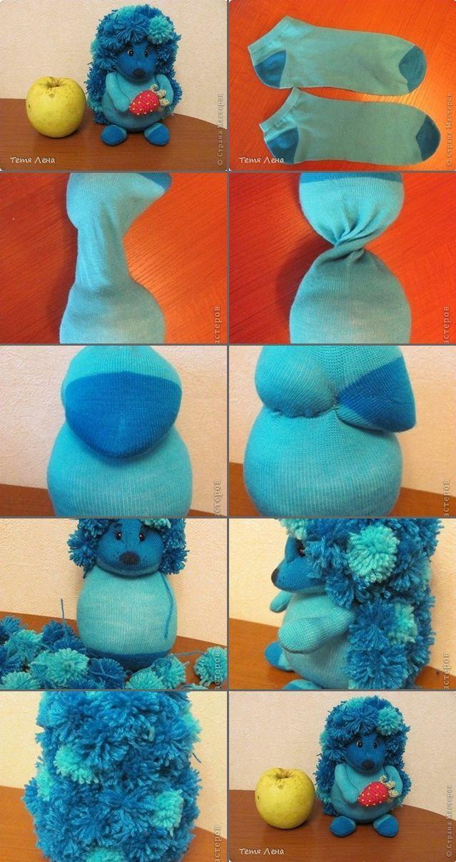 DIY Sock Hedgehog Toy Tutorial – #hedgehog #tutori…