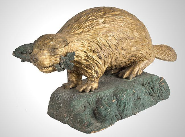 antique Canadian Beaver decoration - Google Search
