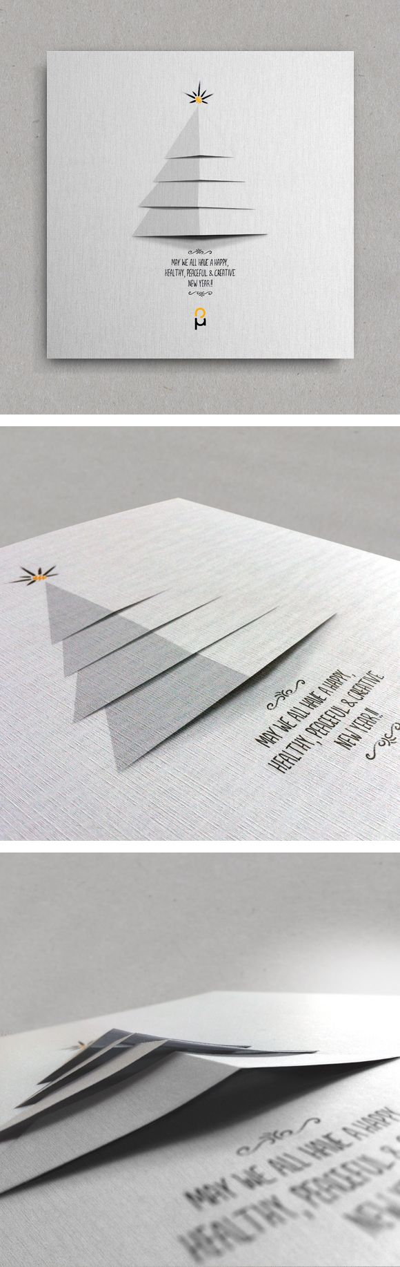 Christmas New Year Greeting Cards by Vasilis Magoulas, via Behance / #xmas #2014 #newyear