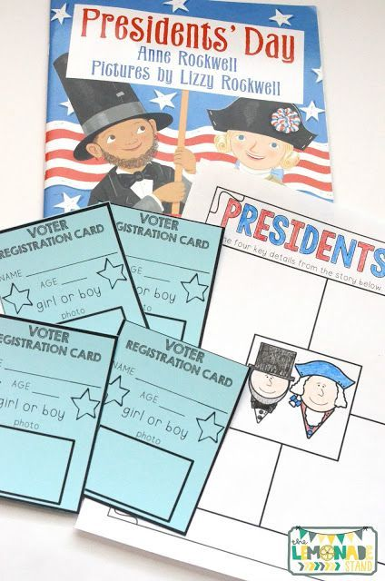 This Presidents' Day pack is the perfect ELA unit for the week of Presidents' Day. It's full of Presidents' Day crafts, Presidents' Day activities, and has a focus on identifying key ideas and details in text. Great for kindergarten through second grade. Presidents Day craft | art | education | I Voted button