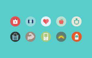 Pack de iconos planos en PSD y PNG - PSD a HTML Paso a Paso
