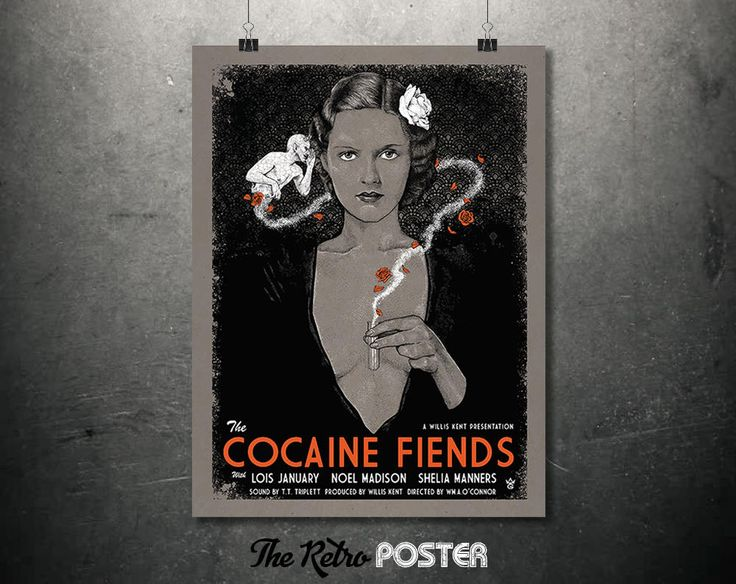 1935 The Cocaine Fiends - Vintage Theatrical Publicity Print // High Quality Fine Art Reproduction Giclée Print by TheRetroPoster on Etsy
