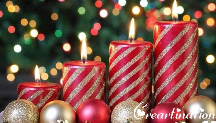 Striped candles add a dreamy fairy touch to candlelight with your sweetheart! Light these this Christmas and enjoy the eve with your special one! #candles #light #dinner #candlelight #sweetheart #christmas #creartination