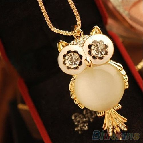 36 best jewelry images on pinterest owls vintage fashion and snowflake eyes owl pendant necklace aloadofball Image collections