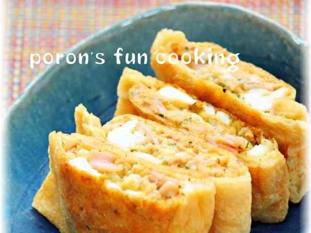 お揚げのタルタルツナハムチーズ焼きの画像